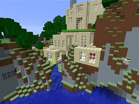 small town houses minecraft map