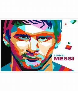 Trophydeal Messi Cartoon Hd Poster: Buy Trophydeal Messi