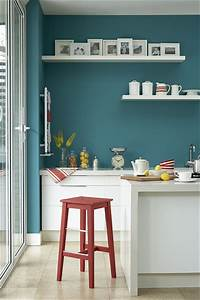 kitchen with turquoise wall flickr photo sharing With kitchen colors with white cabinets with teal and yellow wall art
