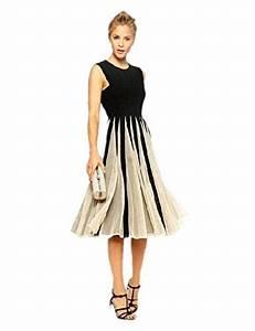 Festliche Mode Für Hochzeitsgäste : babyonline damen kleid knielang patchwork kn pfe t ll casual abendkleid rmellos elegante ~ Orissabook.com Haus und Dekorationen