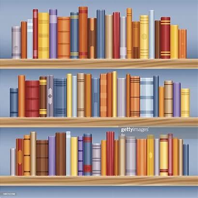Bookshelf Books Spine Vector Clip Illustrations Graphics