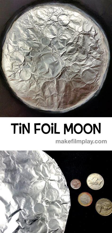 tin foil moon crafts   space crafts  kids