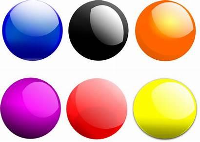 Balls Glossy Ball Clipart Clip Transparent Round