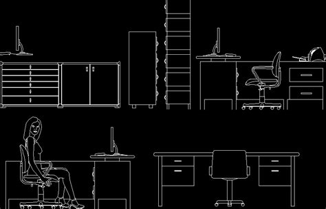 office desk elevation cad block elevation of office furniture 2d dwg elevation for autocad