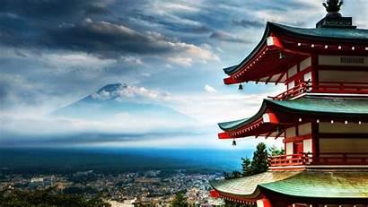 Japan Background Wallpapers Desktop Sun Pc Landscape