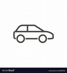 Car Icon Line Drawing Symbol Royalty Free Vector Image