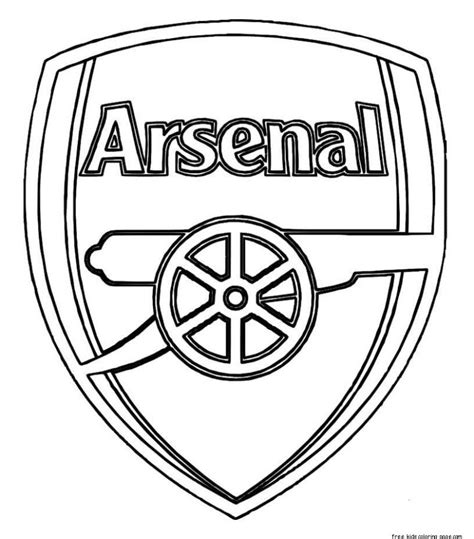 printable soccer arsenal logo coloring pages  kidsfree