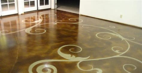 Country Kitchen Tile Ideas - staining concrete floors the concrete network