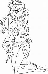 Coloring Swimsuit Bloom Bikini Deviantart Icantunloveyou Winx Template Swimming Sheets Coloriage Bottom Templates sketch template
