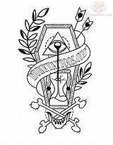Tattoo Coffin Drawing Tattoos Traditional Neo Flash Drawings Hourglass Coloring Sample Unique Banner Ink Truetattoos Shaped Diamond Getdrawings Sketches Eye sketch template