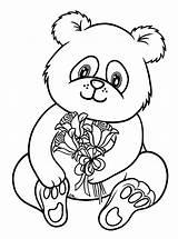 Coloring Pages Panda Printable Animal sketch template