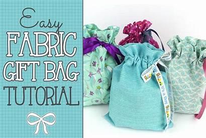 Bag Gift Tutorial Easy Drawstring Fabric Sewing