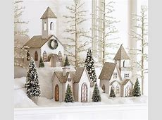 Lit German Glitter Village Houses, Benefiting Give A