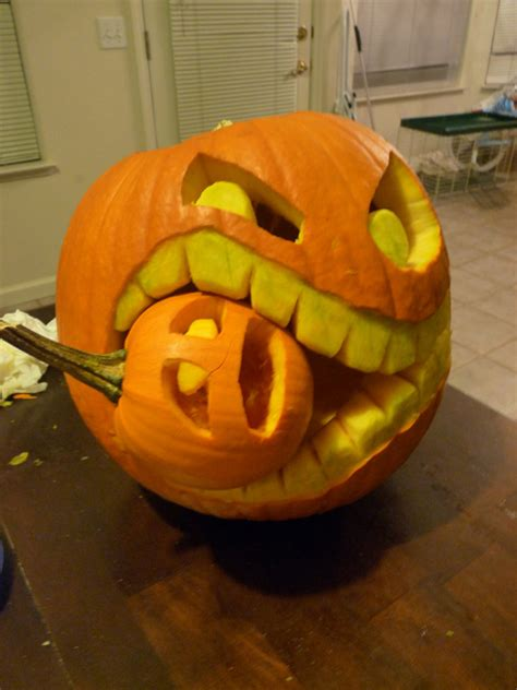 pumpkin ideas cannibalistic pumpkin carving tutorial
