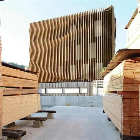 Wrap Wrap Moderner Kabelhalter Aus Holz by The Plywood Fins That Wrap Damiani Holz Ko Sheadquarters