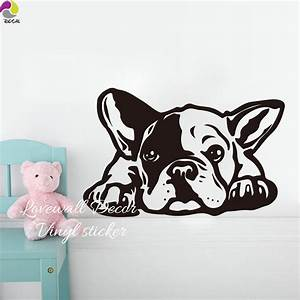 cartoon french bulldog siesta dog wall sticker baby With kitchen cabinets lowes with french bulldog stickers