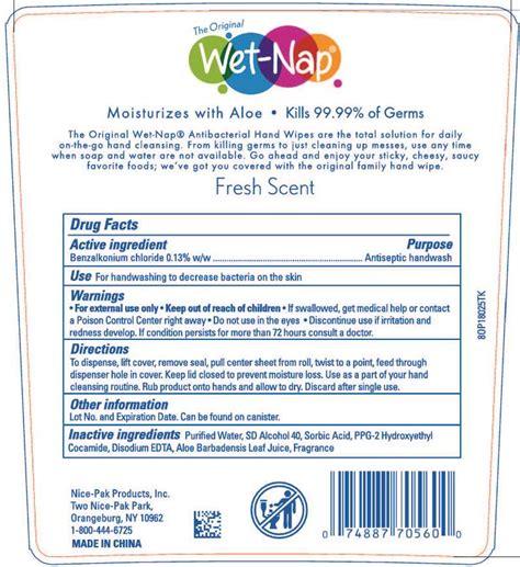 wet naps antibacterial hand wipes fresh swab
