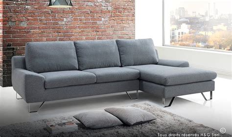 canapé d angle tissus canape design en tissu gris tendance et pas cher kent