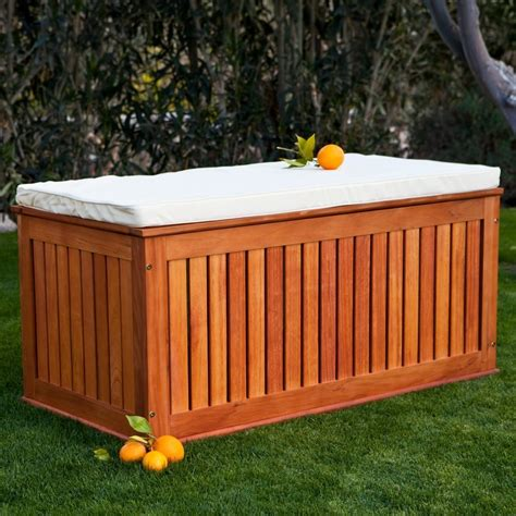 patio storage box 5 best wood deck box durable and stylish solution for