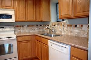 Kitchen Backsplash Pictures With Oak Cabinets by Kitchen Backsplash Ideas With Wood Cabinets Home