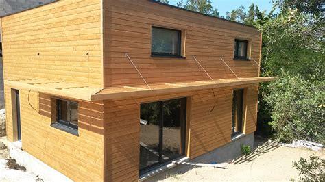 photo maison ossature bois maison ossature bois moderne et cubique la maison bois par maisons bois