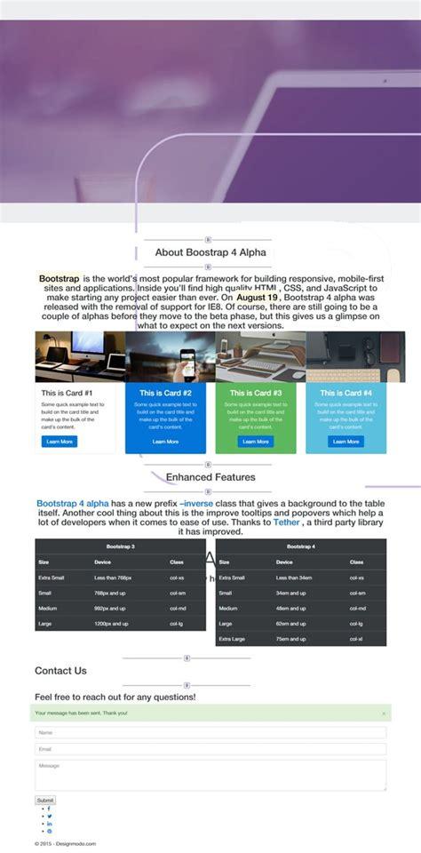 bootstrap  tutorial create   page template designmodo