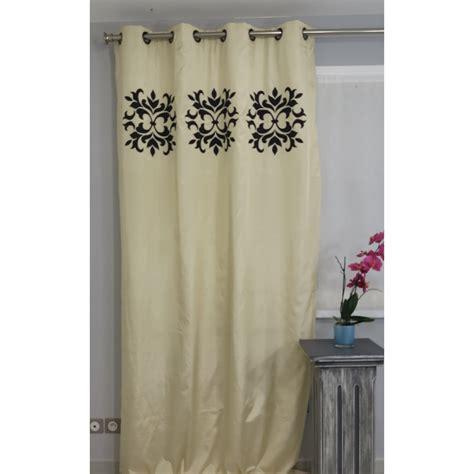 eurodif rideaux pret a poser tenture pr 234 t 224 poser doubl 233 rueil beige 135 x 270 cm l atelier de la toile