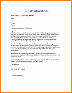 11 employment termination notice sample notice letter With termination of employment contract template