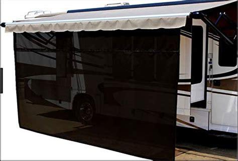 easyshade rv awning sun shade panels sun blockers awning shade cloth black ft  ft drop