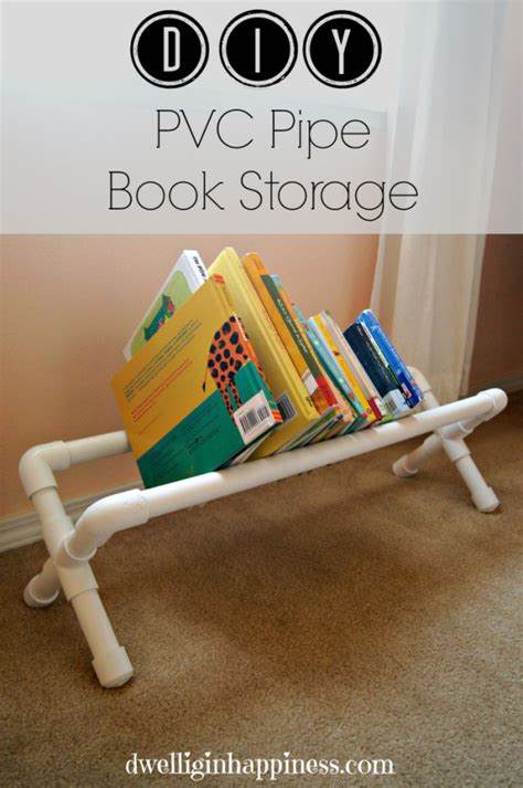 hometalk diy pvc pipe book storage