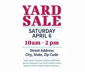 download this yard sale flyer template and other free With garage sale flyer template word