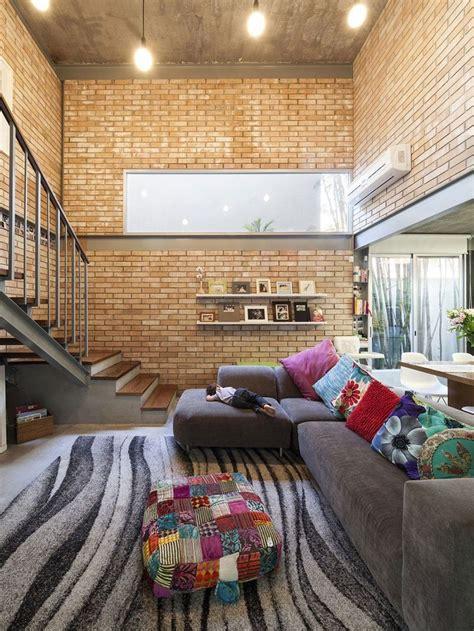 gambar desain rumah minimalis bata ekspos wallpaper dinding