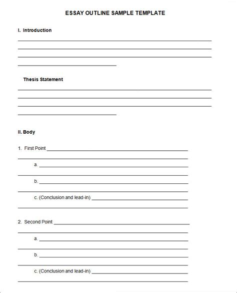 Essay Outline Template 21 Outline Templates Pdf Doc Free Premium Templates