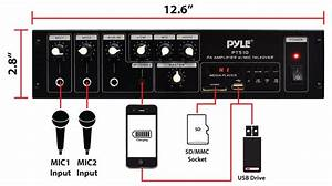 Pyle Home Pt510 240 Watt Amplifier With 70v Output  Mic