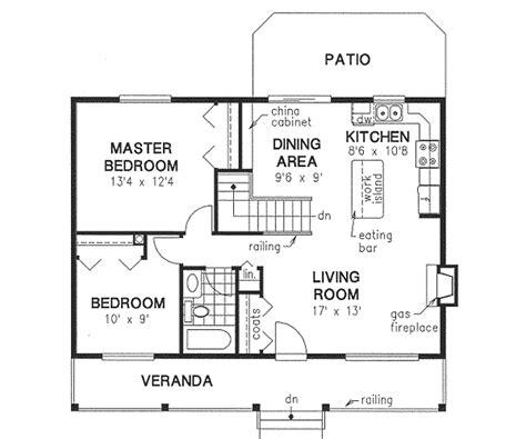Home Design 900 Sq Ft : 2 Bedrooms, 1 Bath, 900 Sq Ft Plan 40-129