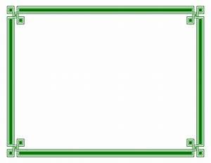 Green Certificate Border Template   mathmarkstrainones.com