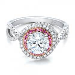 and pink sapphire engagement ring halo ring pink sapphire halo ring