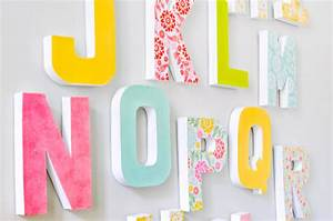 diy letter wall decor the love nerds With large alphabet letters for classroom wall