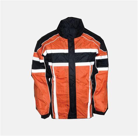motorcycle rain gear men 39 s motorcycle 100 nylon rain suit black orange