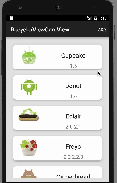 android recyclerview android cardview  tutorial