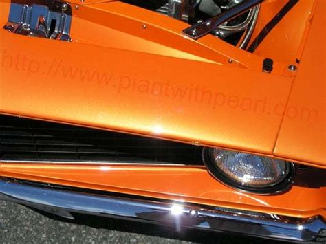 bright orange candy pearl paint  pearl