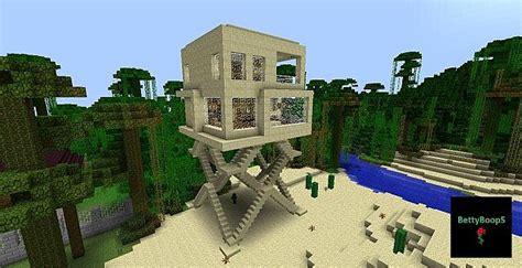 modern house sandstone  stilts minecraft map