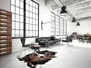 Loft Industriel Moderne  Rendu 3d  U2014 Photographie 2mmedia