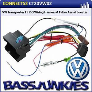Vw Transporter T5 Car Van Radio Stereo Iso Wiring Harness