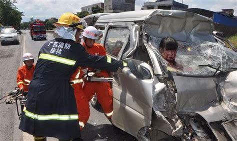 trapped woman survives car crash world news express