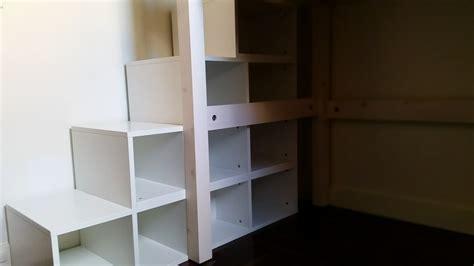 lit mezzanine sur mesure et escalier collection et escalier pour mezzanine avec rangement photo