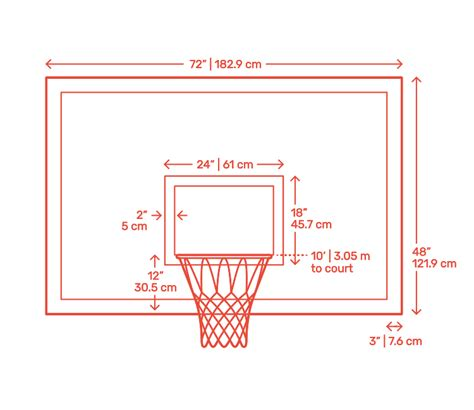 basketball backboards dimensions drawings dimensionsguide