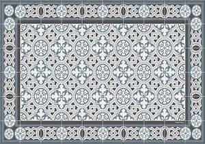Set De Table Carreau De Ciment : set de table carreaux de ciment bertille bleu gris ~ Teatrodelosmanantiales.com Idées de Décoration