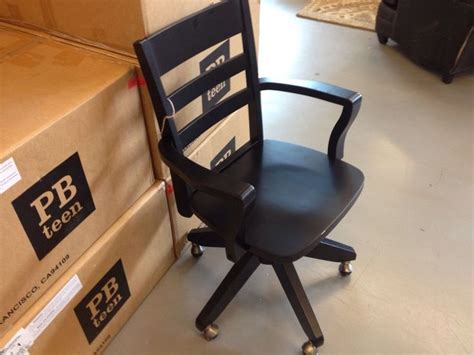 Pottery Barn Pb Teen Swivel Armchair Chair Wood Desk New