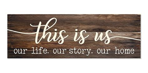 Accent anything from seasonal to farmhouse decorations with this rustic our life. This is Us Our Life Our Story Our Home Rustic Wood Wall Sign 6x18 (Brown) - Walmart.com
